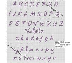 Category alphabet - page 1 Purple Books, Cross Stitch Letters, Perler Bead Art, Le Point, Pattern Making, Blackwork, Embroidery Stitches, Diy Crochet, Stitch Patterns