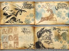 Layers of ink: Merry Christmas Cards