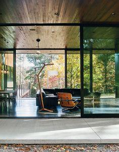 Minimal North Carolina Home Built for a Tech-Forward West Coast Couple via @dwellmedia