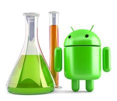 Free stock photo: Android robot with laboratory glassware. Contains clipping path Free Stock Photos, Android, Technology, 3d, Illustration, Tech, Tecnologia, Illustrations