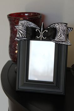 Beautiful Embellished Picture Frame  by Melissasburydesigns - this would be cute with a monogram