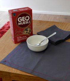 Our day 10 prize was some fabulous Traidcraft Geo Muesli and serviettes made witho ur Fairtrade certified cotton fabric in Dark Peak Blue available from www.fairtradefabric.co.uk #fairtradefortnight #fairtrade #YouEatTheyEat #cotton #grey