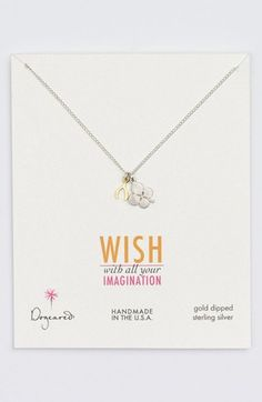 Dogeared Clover & Wishbone Cluster Pendant Necklace (Nordstrom Exclusive) available at #Nordstrom