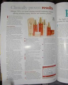 "Arbonne in the ""Making money"" magazine. The right business, at the right time....life changing!!"