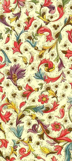 Florentine Christmas paper from Italy, with gold gilded highlights