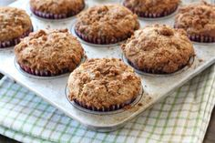 Spiced apple muffins with a sweet and buttery cinnamon crumb topping. These muffins are easy to make and are great for breakfast or snack time. Crumb Topping For Muffins, Apple Crumble Muffins, Easy Apple Crumble, Cinnamon Crumble, Apple Cinnamon Muffins, Cinnamon Apples, Apple Streusel, Cinnamon Coffee, Muffin Recipes