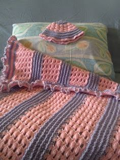 Free Pattern: Baby Girl's Blanket | Crochet is the Way I am curious how it feels. Uses One pound skeins - presumably Caron brand?