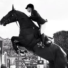 Gucci Equestrian ambassador Edwina Alexander mastering the jump with her horse Ego.