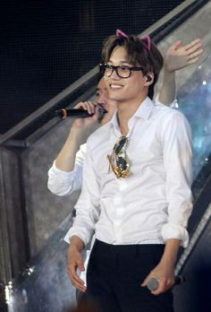 I thing glasses really suit him XD. He should wear them often.