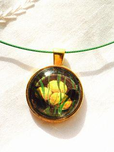 Vintage Ephemera Easter Necklace Magnifying by NorthCoastCottage