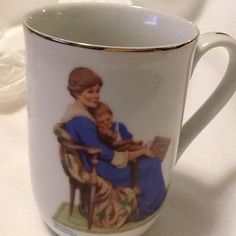 Norman Rockwell Bedtime Coffee Mug Tea Cup