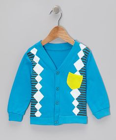Take a look at this Blue Mash-Up Cardigan - Toddler & Kids by Ottomatic on #zulily today!