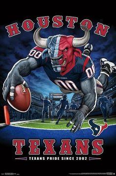 "Houston Texans ""Texans Pride Since NFL Theme Art Poster – Liquid Blue/Tren… – American Football Houston Texans Football, Vikings Football, Nfl Football Teams, Houston Nfl, Texas Texans, Football Names, Football Signs, Football Humor, Football Helmets"