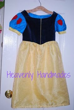 Snow White Dress Free Pattern and Tutorial