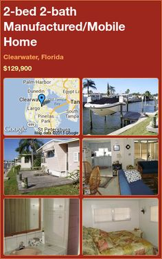 2-bed 2-bath Manufactured/Mobile Home in Clearwater, Florida ►$129,900 #PropertyForSale #RealEstate #Florida http://florida-magic.com/properties/2868-manufactured-mobile-home-for-sale-in-clearwater-florida-with-2-bedroom-2-bathroom