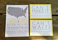 Wedding invitation: Map Love Invite - Self Assembly Available. $3.25, via Etsy.