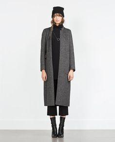 Image 1 de MANTEAU LONG FAIT MAIN de Zara