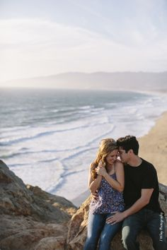 The edge of the world... // Malibu, Point Dume engagement photography // Los Angeles wedding photographer // J Wiley Photography