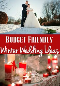 Top 12 Budget FriendlyIdeas for A Winter Wedding - Planning a winter wedding? it can be beautiful and magical and still stay in budget! Check out these idea you will want to put into your own wedding!