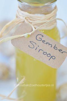 Gembersiroop kun je supersnel maken met dit recept.  Easy ginger syrup, read this how to.