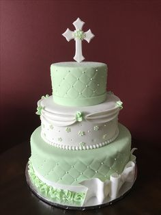 First Communion Cake Communion Cakes, First Communion, Cross Cakes, Desserts, Food, Food Cakes, First Holy Communion, Tailgate Desserts, Deserts