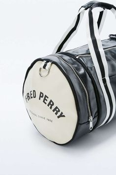 Fred Perry Classic Black Barrel Bag - Urban Outfitters