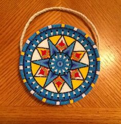 This is a new dance bag (purse). Made October cuts, 8 inches across. Backed and lined with brained tanned buckskin. Back and front match. Powwow Beadwork, Native Beadwork, Native American Beadwork, Beaded Purses, Beaded Bags, Beadwork Designs, Native American Crafts, Native Design, Nativity Crafts