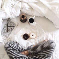 Doughnuts in bed