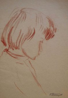 Drawing of Child. Original Pastel Drawing. Child Face by OHankArt