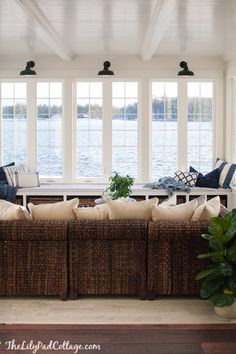 Lake House Sunroom - it's done! - The Lilypad Cottage