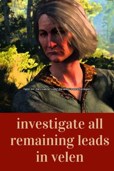 Investigate All Remaining Leads In Velen : investigate, remaining, leads, velen, Family, Pictures, Ideas, Pictures,, Photos,