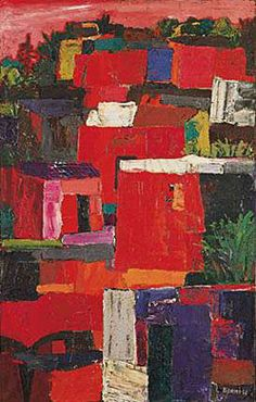 Antonio Berni. Sin título, 1958, óleo s/tela, 132 x 83,5 cm. Col. privada Abstract Landscape, Landscape Paintings, Landscapes, Social Realism, Arte Popular, Joan Miro, Gustav Klimt, Book Making, Beautiful Paintings