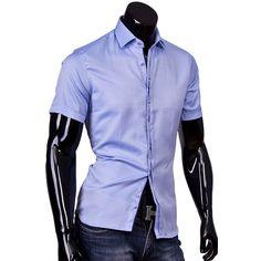 4f596d82f9e Рубашка Louis Fabel приталенная цвет голубой в горошек