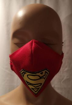 Face Mask just like Superman Cape embroidered emblem . Glenda The Good Witch, Superman Cape, Red Corset, Awesome Costumes, Party Dresses, Wedding Dresses, Gatsby Style, Protective Mask, Camping Stuff