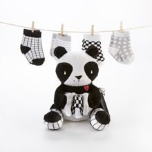 "No need to ""paws"" before choosing this cuddly, comfy baby gift set, complete with a plush panda baby toy and four pairs of stylish newborn baby socks! This zoo favorite will be baby's new favorite! Features and facts: Huggable, plush black-and-white panda Newborn Baby Gifts, Baby Boy Gifts, Baby Aspen, Gentle Baby, Baby Shower Gifts For Boys, Personalized Baby Blankets, Baby Gift Sets, Baby Socks, Plush Animals"