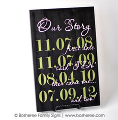 Custom Date Sign Personalized Plaque with important dates - Perfect Valentines Day Gift. $30.00, via Etsy.