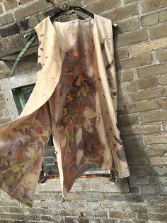 Reversible natural printed vest