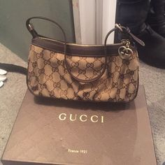 "Gucci ""cosmetic case"" small clutch - never used Never used Brand new Gucci ""Cosmetic Case"" - classic Gucci print - would be an excellent small clutch Gucci Bags Clutches & Wristlets"