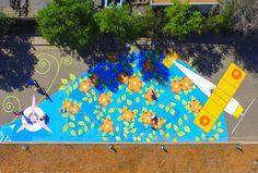 painting mural two weekends street Aurora Colorado