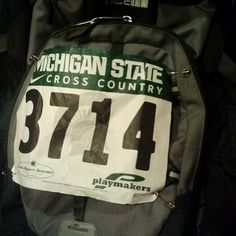 Ive had this bib on here since we ran there friday #michiganstate #crosscountry #xc #spartans #running #Padgram