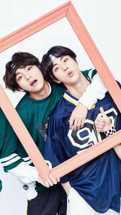 Taehyung and Jin Seokjin, Kim Namjoon, Bts Taehyung, Bts Bangtan Boy, Bts Jimin, Jung Hoseok, Foto Bts, V And Jin, V Bts Wallpaper