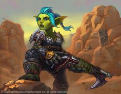 Goblin Hunter Picture  (2d, illustration, goblin, female, warcraft, wow, hunter, fan art)