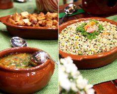 Molho vinagrete para temperar e salada de feijão fradinho