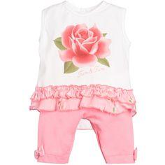 Fun & Fun Baby Girls 2 Piece Pink Top & Leggings Set at Childrensalon.com