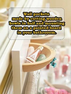 Wooden Wall Pockets #storage #upcycle