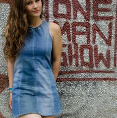 recycled denim! Recycling demin is such a good thing to do because then, you get to create something like this dress
