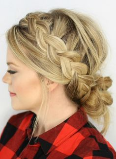 ✨DUTCH BRAIDS AND LOW MESSY BUN✨ #tipit #Beauty #Trusper #Tip
