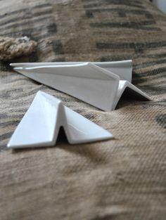 Image of PAPER PLANE ORIGAMI EN PORCELAINE