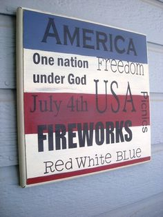 4th of July Patriotic Sign ... Beautiful Red by TatteredWalls, $12.50