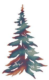20 inch Single Pine Tree, precision laser cut from steel, powder coated and baked on finish for durability.